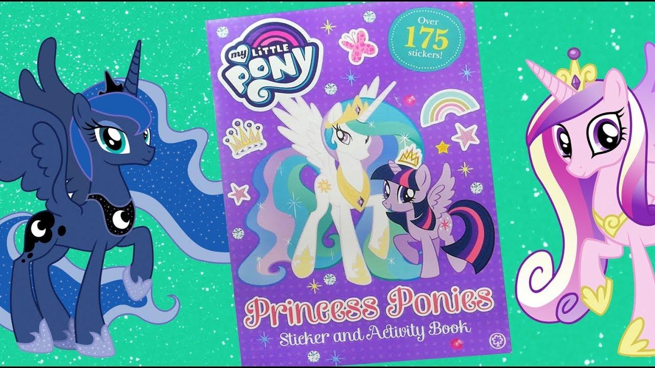 My Little Pony Princess Ponies Sticker Activity Book Mlp