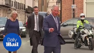 Prince Charles receives sparkly present and balloon for his birthday