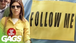 Followed By 100 Strangers Prank - Just For Laughs Gags
