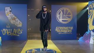 Hamilton star Daveed Diggs raps about Warriors winning another title | ESPN