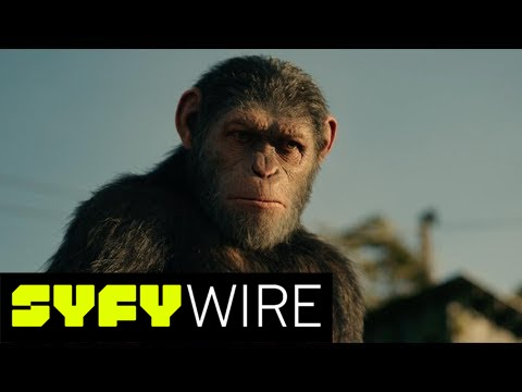 War for the Planet of the Apes Woody Harrelson and Andy Serkis on Caesar vs. Colonel | SYFY WIRE