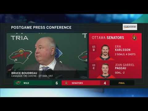 Wild coach Boudreau: Eriksson Ek 'best player on the ice tonight'
