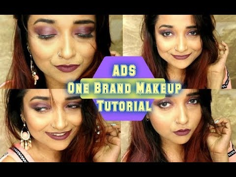 ADS One Brand Party Makeup Tutorial| Monotone Makeup| Affordable Makeup India