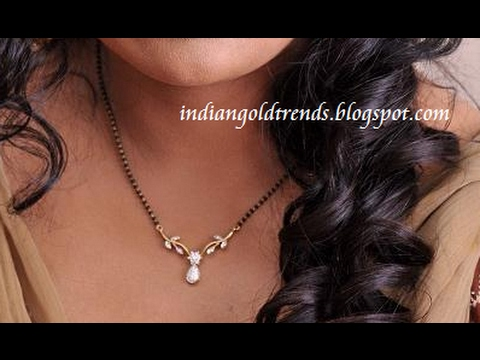 Simple Light Weight Diamond Mangalsutra Designs