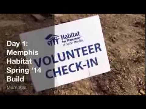Memphis Habitat Spring '14 Build Day 1