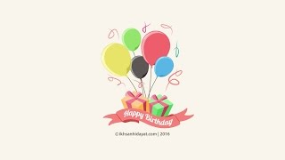 Illustrator for beginner - How to create Vector Ballon happy birthday