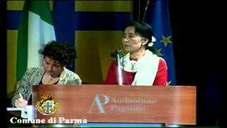 Aung San Suu Kyi a Parma - Auditorium Paganini