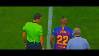 Debut Arturo VIDAL  en FC Barcelona siendo CAMPEÓN