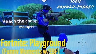 GET TO THE CHOPPA, COME ON!! | Fortnite: Playground Funny Moments w/ EBF