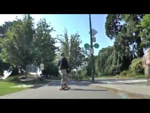 Sea Wall on the electric Skateboard with Chris Bennett