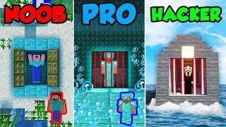 Minecraft NOOB vs PRO vs HACKER : UNDERWATER PRISON ESCAPE in Minecraft Animation!