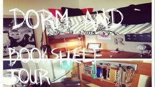 my college dorm and college bookshelf tour
