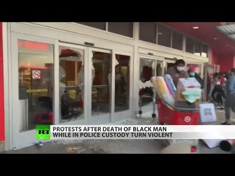 RT America: Looters join protesters as fires rage in Minneapolis
