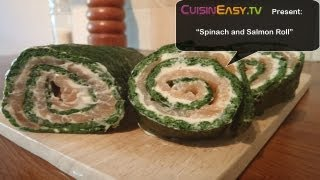 Spinach Salmon Roll Recipe | Easy