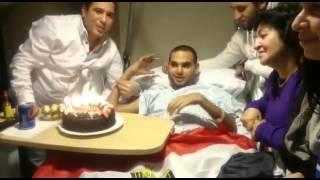 العربية نيوز| بالفيديو.. 'نيو إيجيبت لندن' تحتفل بعيد ميلاد ضابط مصاب بسيناء
