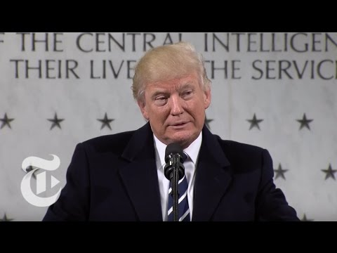 President Donald Trump Speaks At The C.I.A. | The New York Times