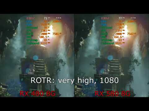 RX480 8G vs RX580 8G Rise of the Tomb Rider FHD very high