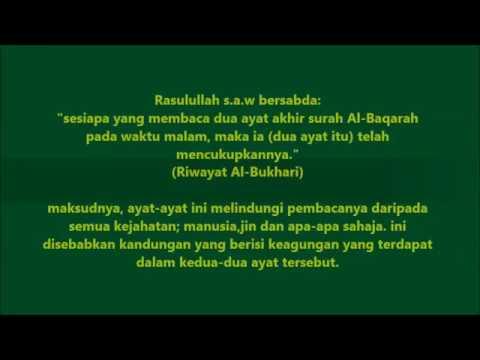 Bacaan Ayat 285 Dan 286 Surah Al Baqarah Untuk Amalan Sebelum Tidur