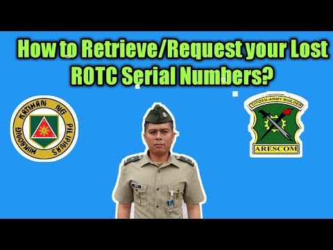 How To Retrieve ROTC/Reserve Serial Numbers? I Reserve Officer Vlog