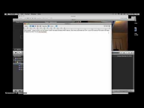 How To Do SplitScreen EASILY In IMovie '08-'11