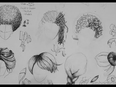 Pen & Ink Drawing Tutorials | How to Draw Hair - YouTube