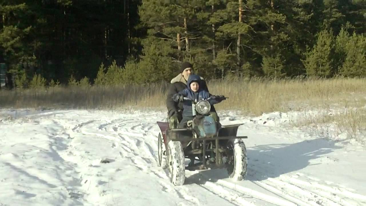 Самодельный квадроцикл с двигателем от скутера.