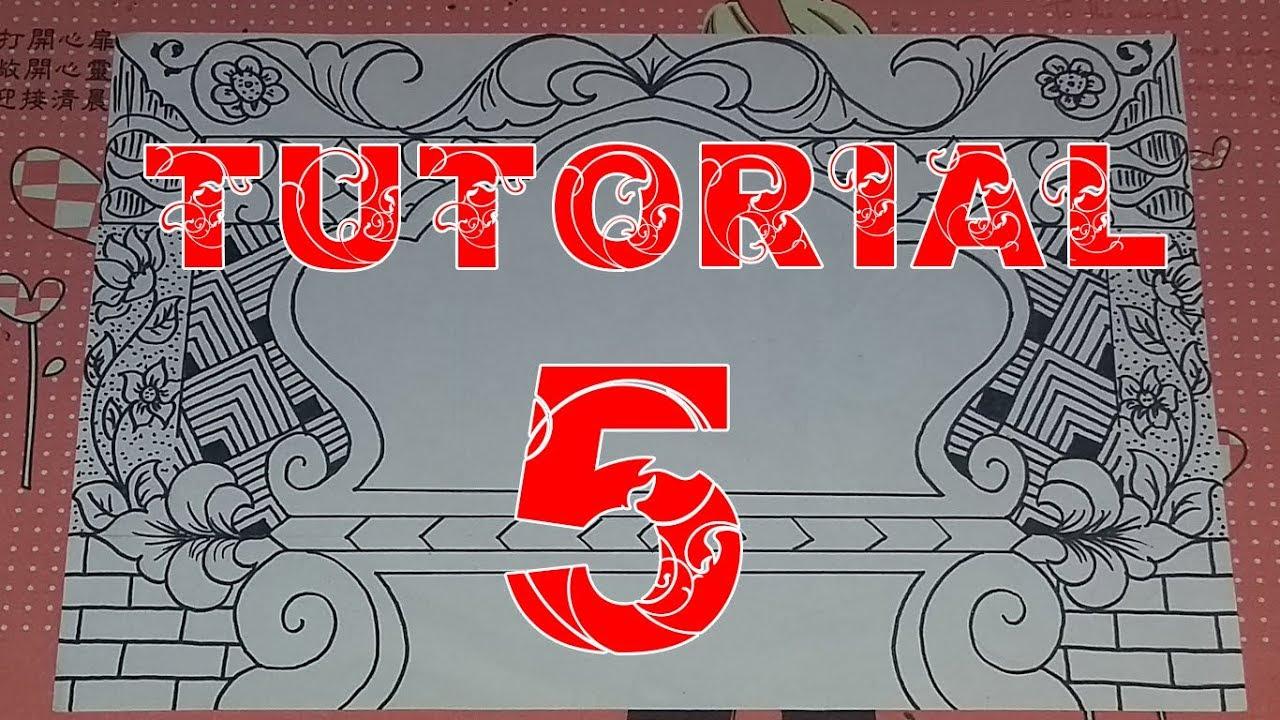 Tutorial Membuat Dekorasi Kaligrafi Teknik Ngeblak Ngemal 5
