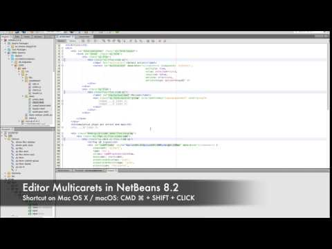 NetBeans 8.2 Editor Multicarets On OS X
