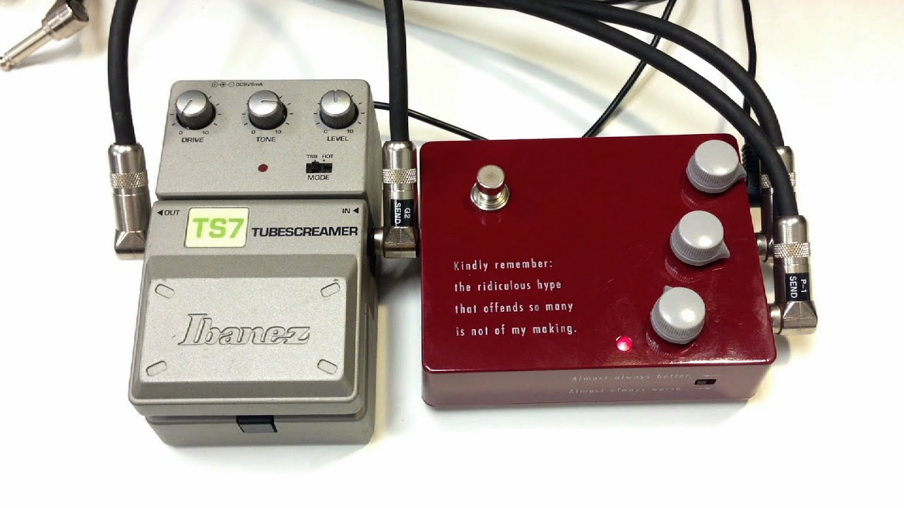 ibanez tube screamer ts7 vs klon ktr youtube