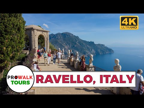 Walking in Ravello & the Villa Cimbrone [4K|60fps] (Binaural Sounds)