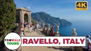 Walking in Ravello & the Villa Cimbrone [4K 60fps] (Binaural Sounds)