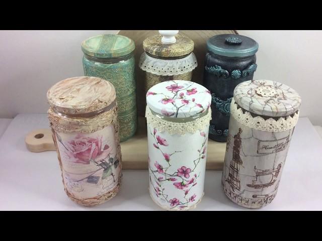 6 ideas para decorar frascos de vidrio