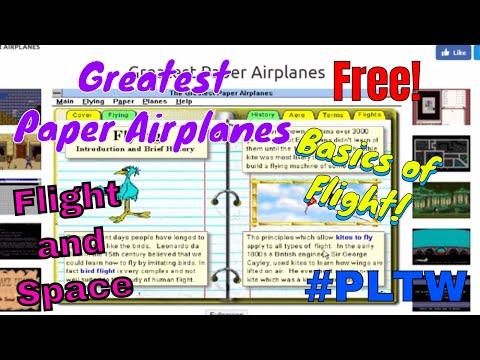 Basics of Flight, Greatest Paper Airplanes Style! #PLTW
