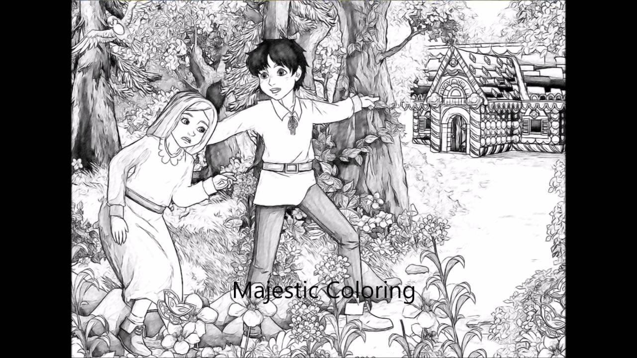 wonderful fairy tales grayscale coloring book for adults youtube