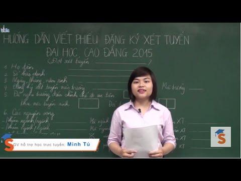 Hướng dẫn làm hồ sơ xét tuyển Đại học, CĐ 2015