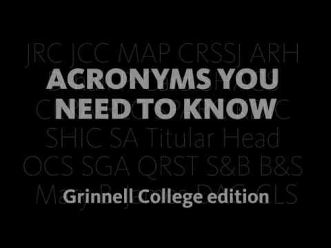 Acronyms You Need to Know at Grinnell College
