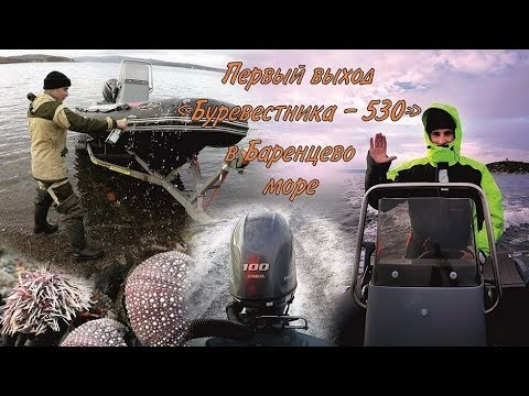 "Первый выход ""Буревестника-530"" в Баренцево море / The first output in the Barents sea"
