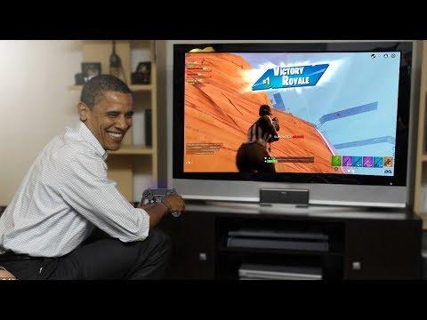 Obama Plays Fortnite!