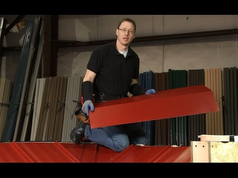 How to Install Ridge Cap: ABC SL-16® Metal Roofing System