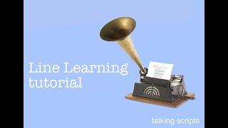 Line Learning Tutorial - Talking Scripts