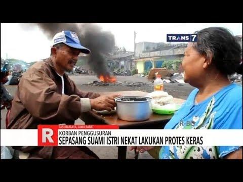Protes Keras Pengusuran, Suami Istri Makan Siang Di Tengah Penggusuran