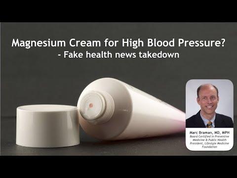 Magnesium Cream For High Blood Pressure