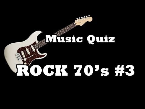 Music Quiz - Rock 70's #3
