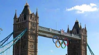 Tower Bridge & London 2012 Olympic rings - London Landmarks - High Definition (HD) YouTube Video