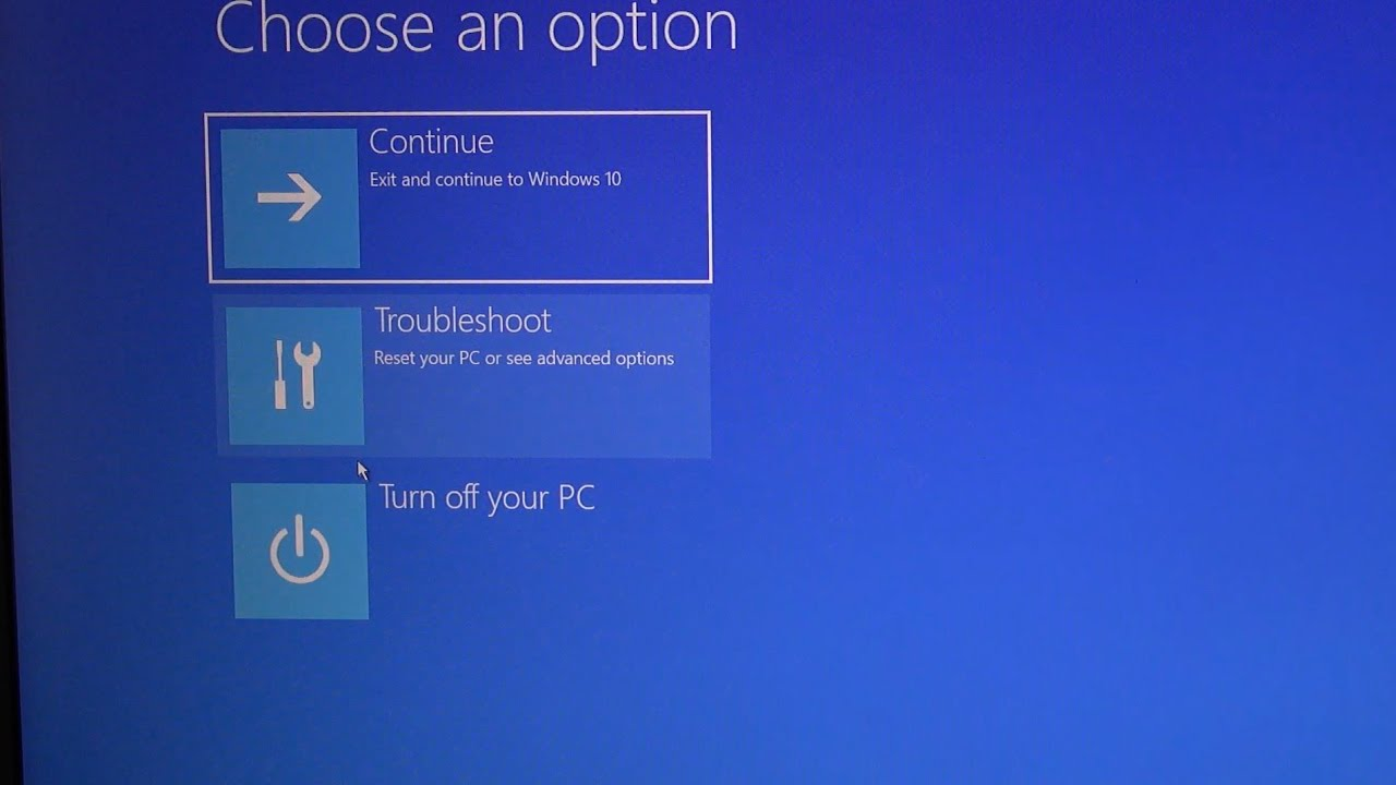 windows 10 cant reset to factory default