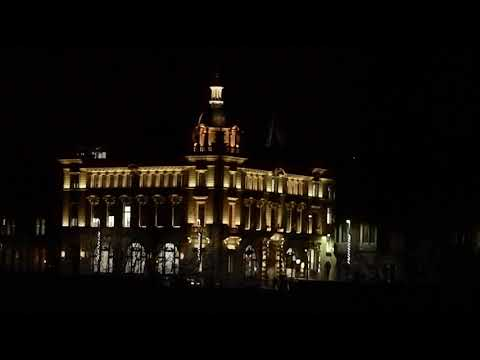 Council Offices At Night In Perth Perthshire Scotland