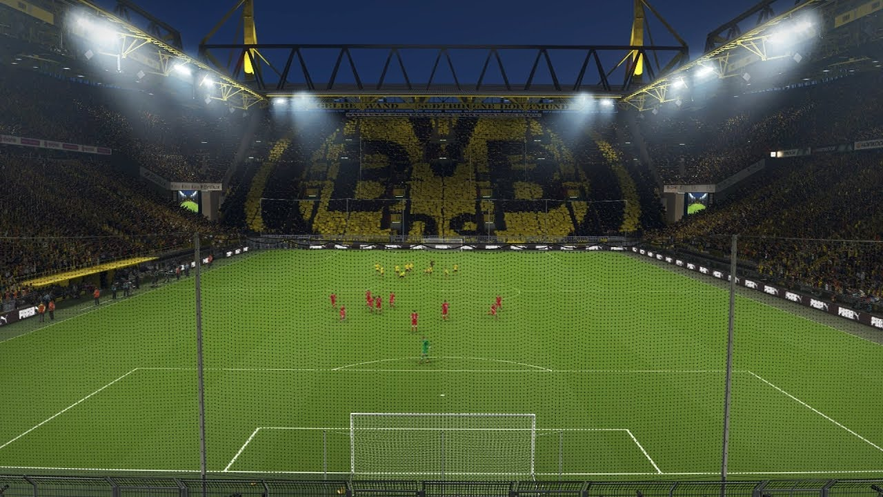 pes2018 demo borussia dortmund entry signal iduna park westfalen stadion youtube. Black Bedroom Furniture Sets. Home Design Ideas