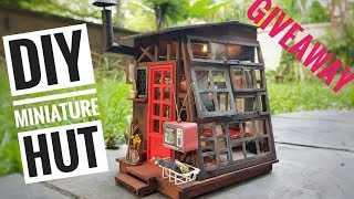 DIY Miniature Wooden Hut [HALLOWEEN GIVEAWAY CONTEST with Robotime]