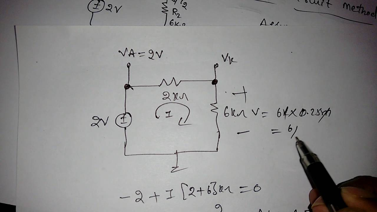 Problem on Diode Circuits - YouTube