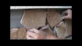 видео облицовка фасада камнем